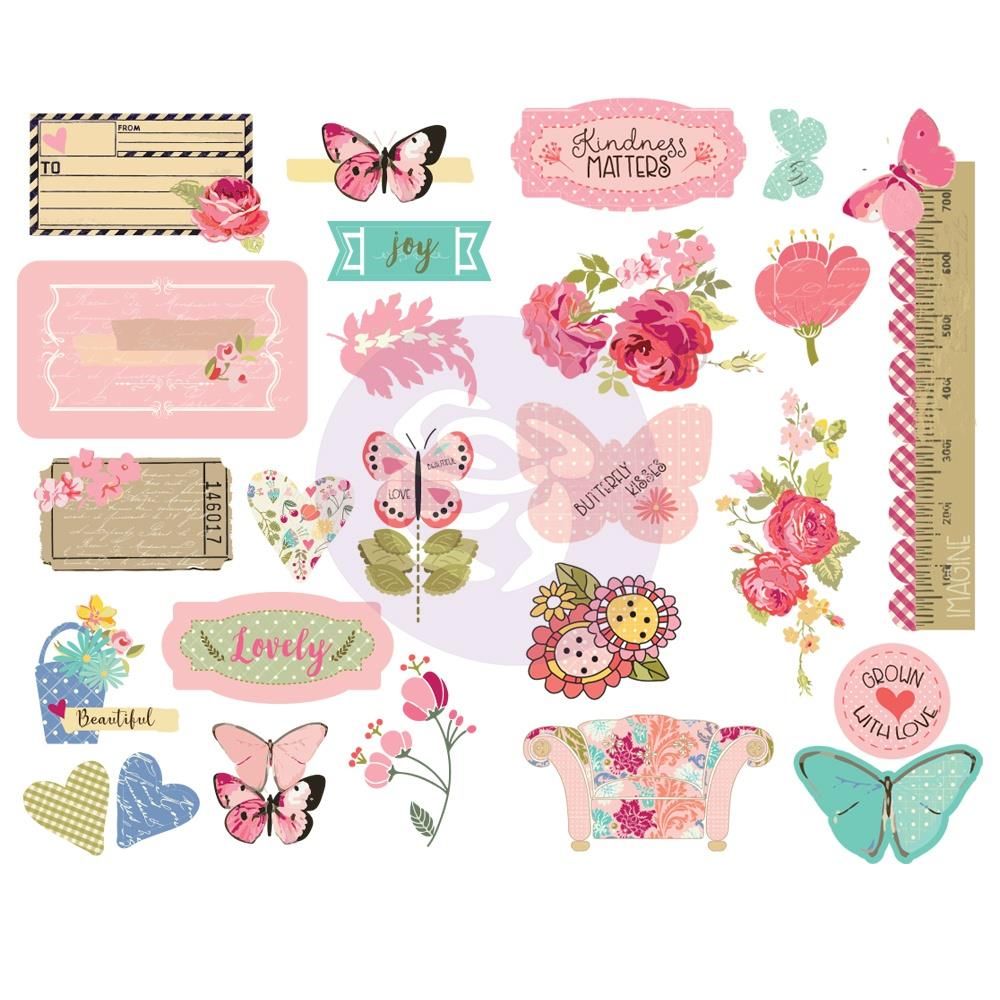 Prima Marketing Butterfly Bliss Chipboard Stickers 25/Pkg - 913137