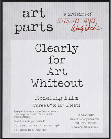 Wendy Vecchi Clearly for Art Whiteout 3 -  8 x 10 Modeling Film Sheets