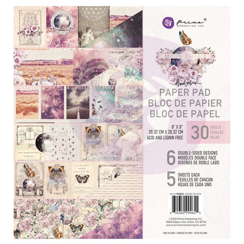 "Prima Marketing Double-Sided Paper Pad 8""X8"" 30/Pkg - Moon Child, 6 Designs/5 Each"