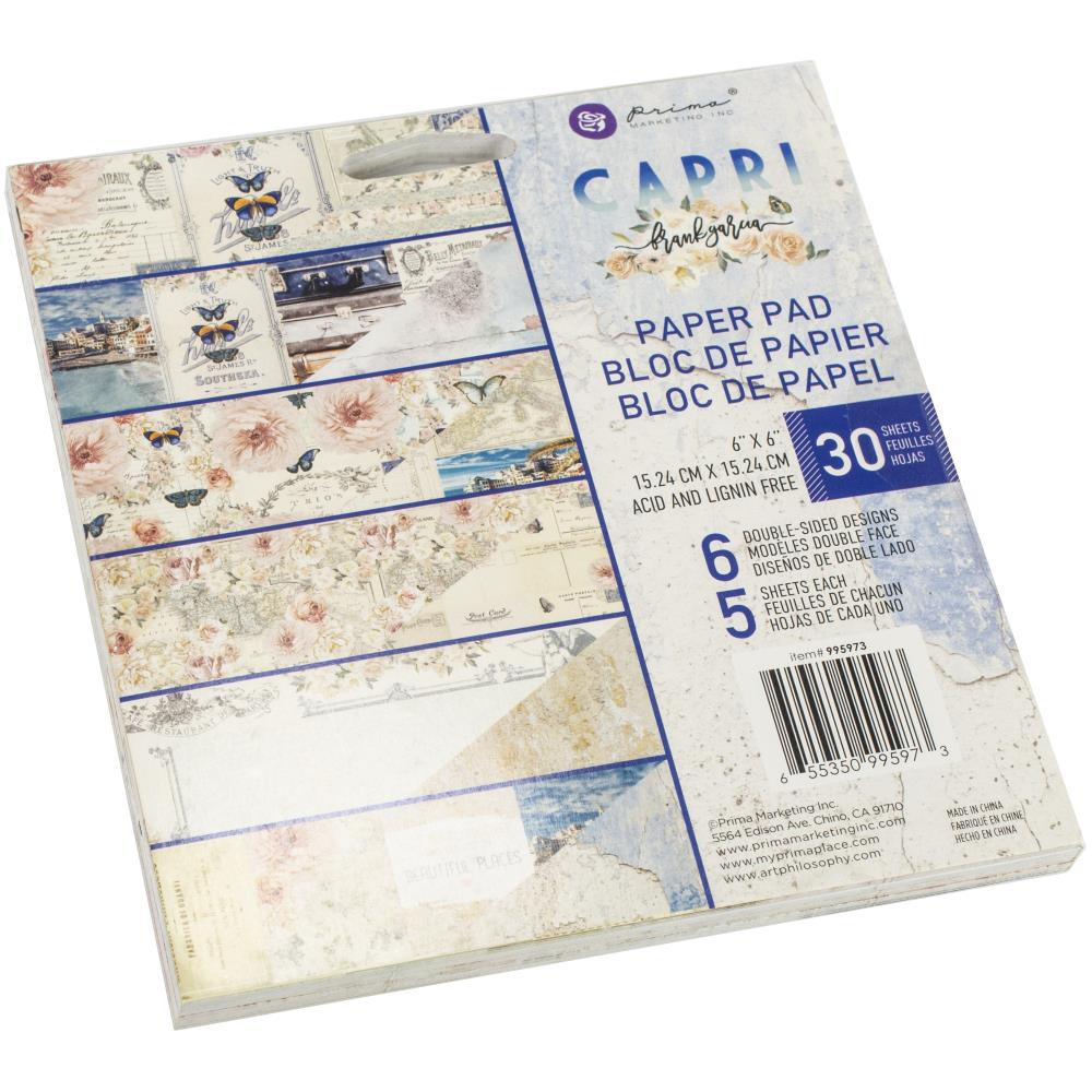 "Prima Marketing Double-Sided Paper Pad 6""X6"" 30/Pkg - Capri 995973"