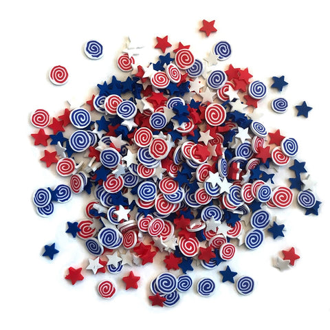 Buttons Galore Sprinkletz Embellishments 12g - Firecrackers NK113
