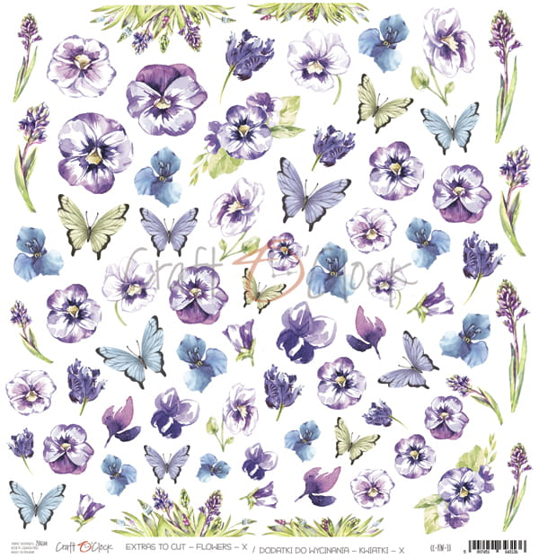 Craft O'Clock - FLOWERS - X - A SHEET OF EXTRAS TO CUT - CC-KW-10