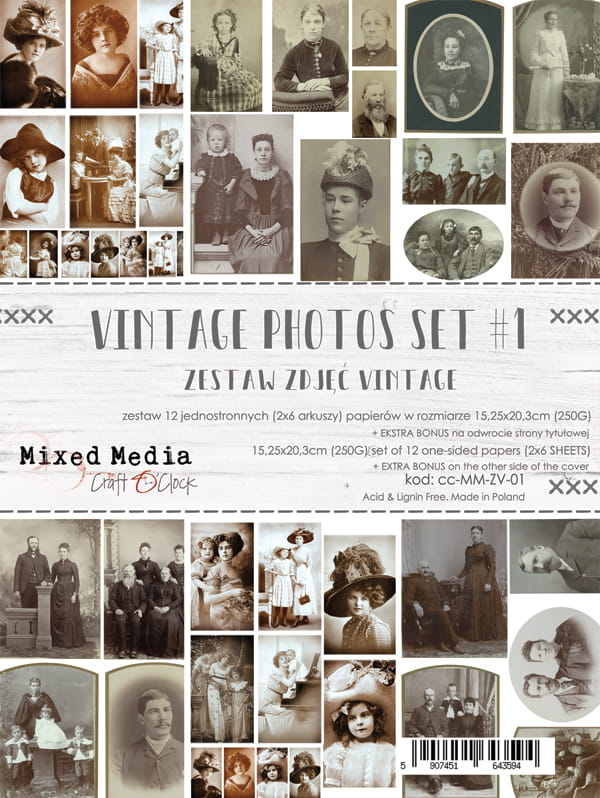 Craft O'Clock - VINTAGE PHOTO SET - I CC-MM-ZV-01