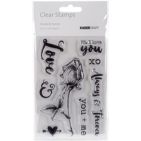 "Kaisercraft Always & Forever Clear Stamps 6""X4"""