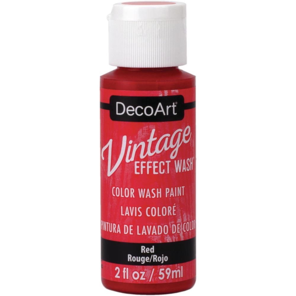 Deco Art - Vintage Effect Wash Paint 2oz Red DCW06