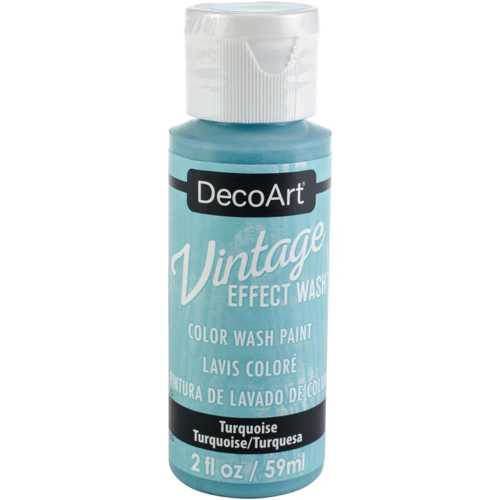 Deco Art Vintage Effect Wash Paint 2oz - Turquoise