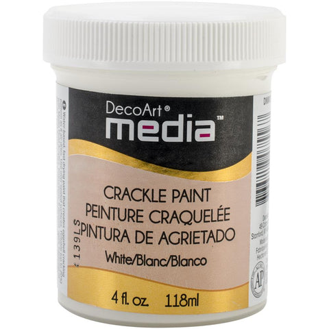 Media Crackle Paint 4oz White DMM15