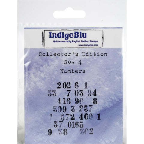 "IndigoBlu Cling Mounted Stamp 2""X2"" Numbers IND0332"