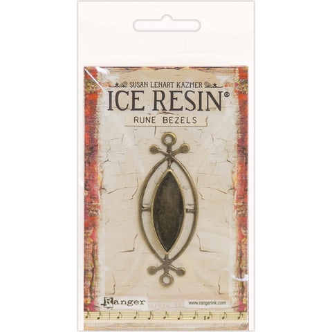Ice Resin Rune Bezel Small Ellipse Antique Bronze 59936