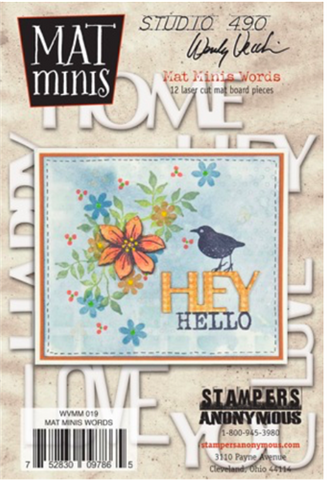 Studio 490 Wendy Vecchi Mat Minis: Words