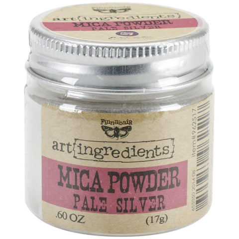 Finnabair Art Ingredients Mica Powder .6oz - Silver