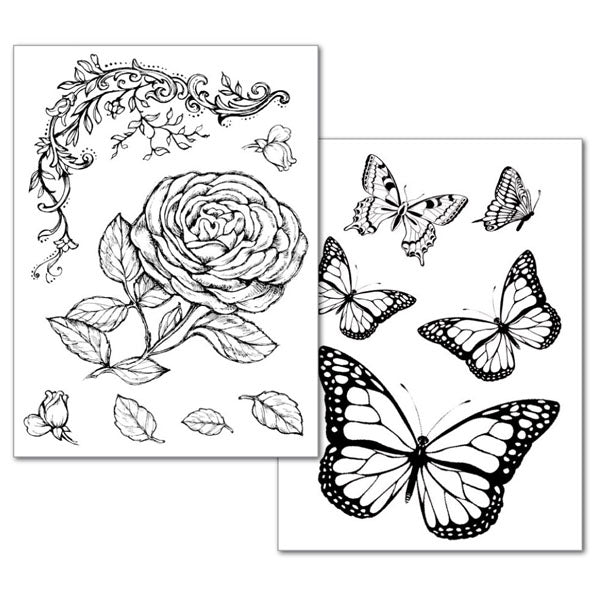 Stamperia Roses and butterfly - Transfer Paper DFTR038