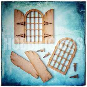 Hobbilicious - Rustic Windows Set of 2