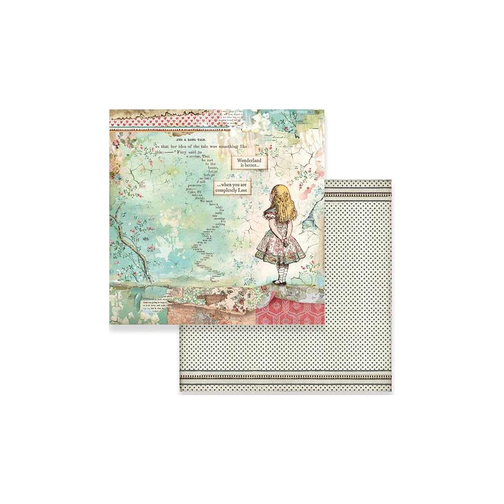 "Stamperia Double-Sided Cardstock 12""X12"" - Alice SBB582"