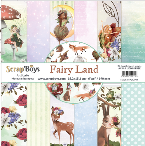 ScrapBoys Fairy Land 6 x 6 Paper Pad Set FALA-09