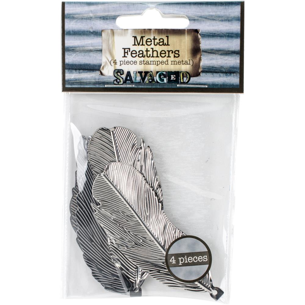 Salvaged - Metal Feathers 4/Pkg