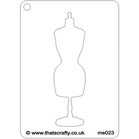 That's Crafty! Mini Stencil - Mannequin - MS023