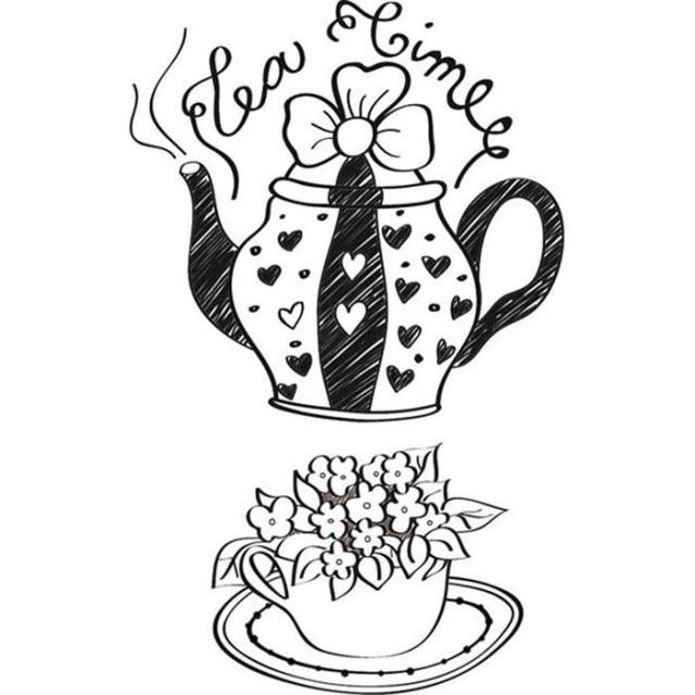 Stamperia - ACRYLIC STAMP - CM. 7X11 - TEA TIME WTK039