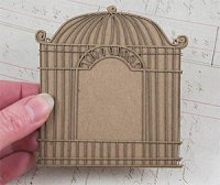 Gypsy Soul Lasercuts -Doodled Cage with Solid Back