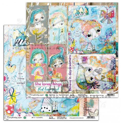 ABstudio - elements ABStudio&TandiArt - Be a unicorn / Believe in daydreamers 12'x12' $0.76