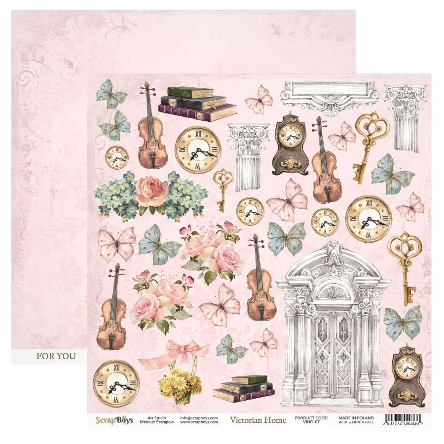 ScrapBoys - Victorian Home 12 x12 Cut Out Sheet VIHO-07