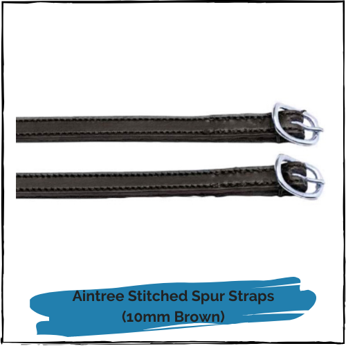 Aintree Stitched Spur Straps - 10mm Brown