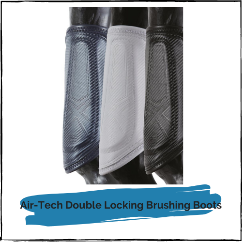 Carbon Air-Tech Double Locking Brushing Boots