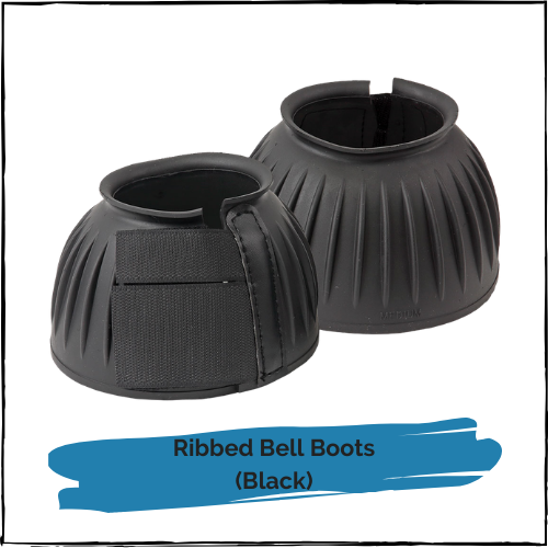 Ribbed Bell Boots - Black