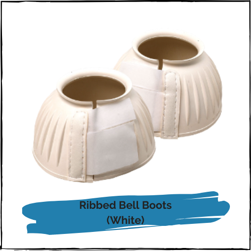 Ribbed Bell Boots - White