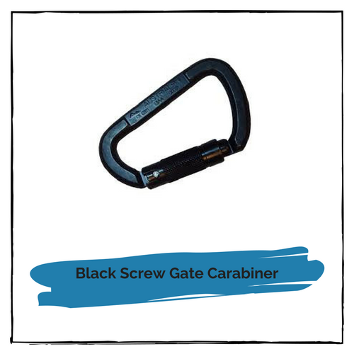 Black Screwgate Carabiner