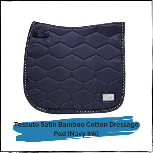 Tessuto Satin Bamboo Cotton Dressage Pad - NAVY INK