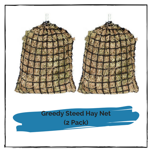 Greedy Steed Medium Premium Knotless Hay Net 4cm (2 Pack)