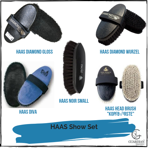 HAAS Show Grooming Brush Set