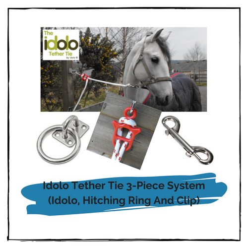 Idolo Tether Tie 3-Piece System (Idolo, Hitching Ring And Clip)