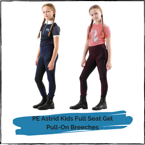 PE Astrid Kids Full Seat Gel Pull On Riding Tights