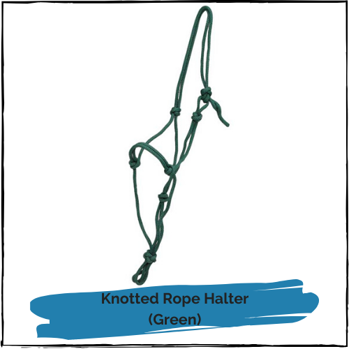 Knotted Rope Halter - Green