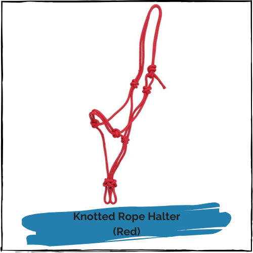 Knotted Rope Halter - Red