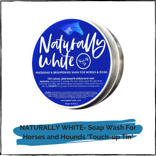 NATURALLY WHITE- Soap Wash For Horses and Hounds 'Touch-up Tin'