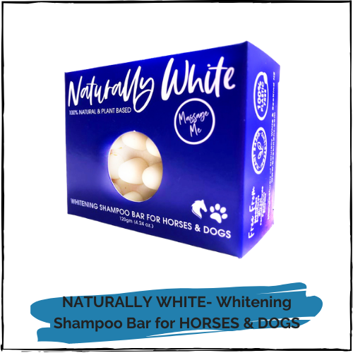 NATURALLY WHITE- Whitening Shampoo Bar for Horses and Dogs