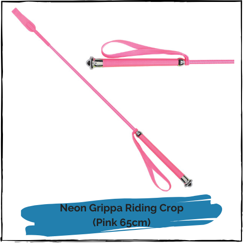 Neon Grippa Riding Crop - Pink 65cm