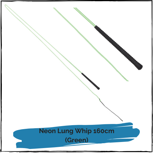 Neon Lunge Whip - Green 160cm