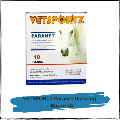 VETSPORTZ Paranet Dressing - Box of 10