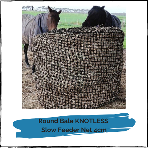 3x4 / 4x4 Round Bale DELUXE KNOTLESS Hay Net 4cm
