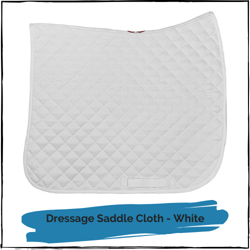 Dressage Saddlecloth - White