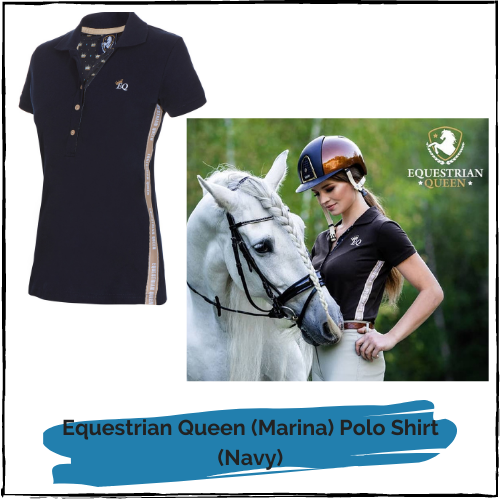 "Equestrian Queen Polo Shirt ""Marina"" Navy"