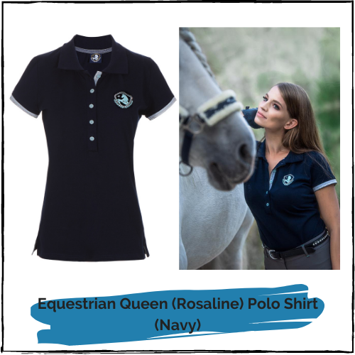 "Equestrian Queen Polo Shirt ""Rosaline"" Navy"