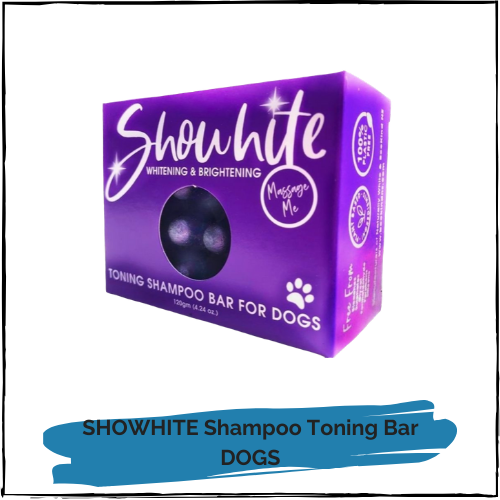 SHOWHITE Shampoo Toning Bar for DOGS