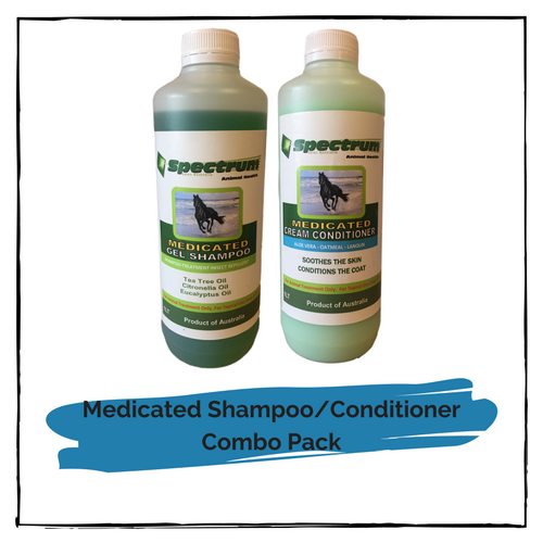 Spectrum Medicated Gel Shampoo/Spectrum Medicated Cream Conditioner Combo Pack 1 litre