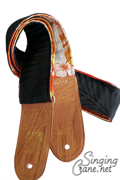Singing Crane - Beautiful guitar strap - SC104215 : Shikkoku-orange