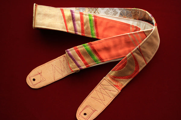 Singing Crane - Beautiful guitar strap - Kigiku-gl (SC110217) =SALE=